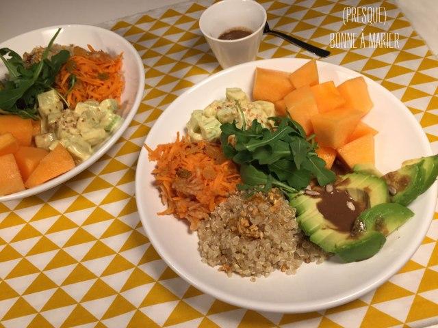 Buddha bowl sucré salé vegan