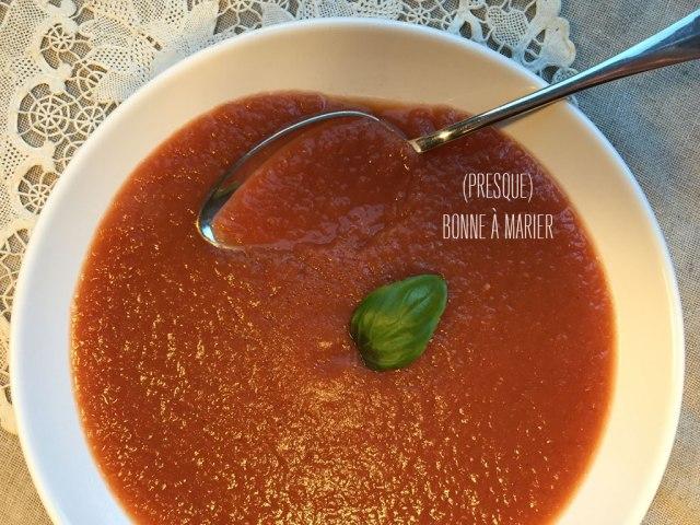 Soupe d'aubergines et de tomates