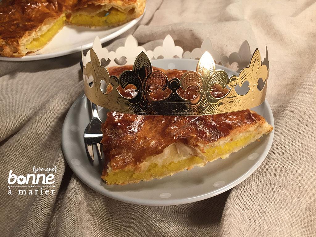 Galette des rois à la frangipane 2017 d'inspiration Julie Andrieu