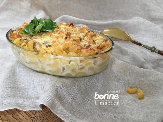 Mac' and cheese aux champignons