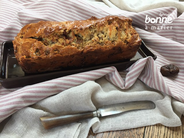 Cake sucré salé aux figues et au jambon Serrano Cyril Lignac