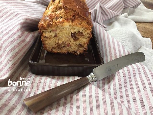 Cake apéro aux figues et au jambon Serrano Cyril Lignac