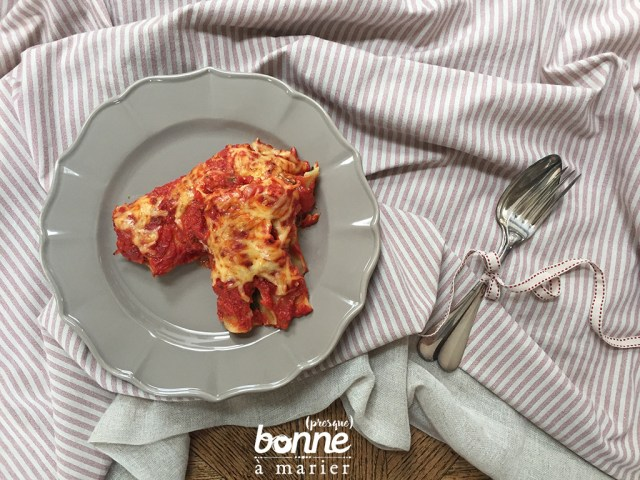 Cannelloni ricotta blettes