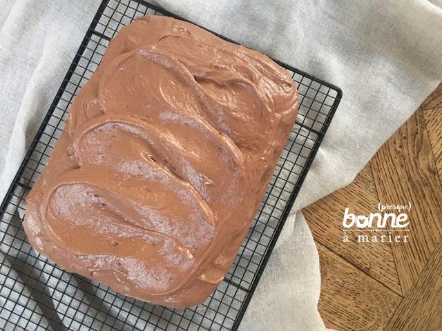 Gâteau tout cacao au cream cheese