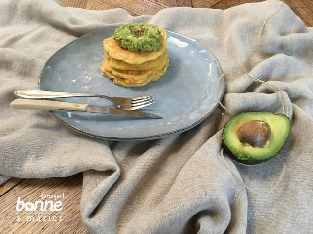 Pancakes salés et guacamole maison