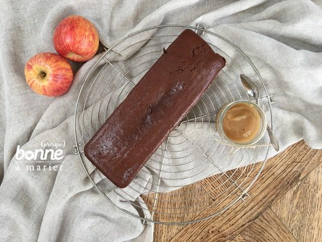 Fondant léger au chocolat et compote de pommes sans beurre