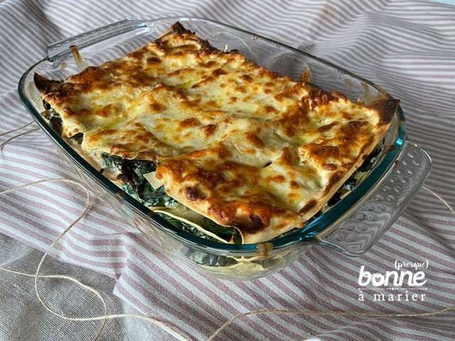 Lasagnes au chou kale et à la ricotta