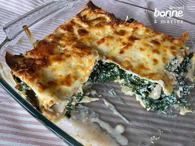 Lasagnes chou kale et ricotta