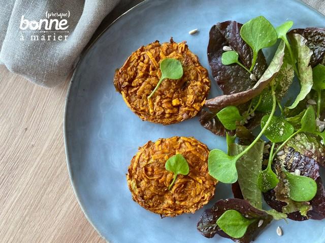Galettes au four de patates douces au curry