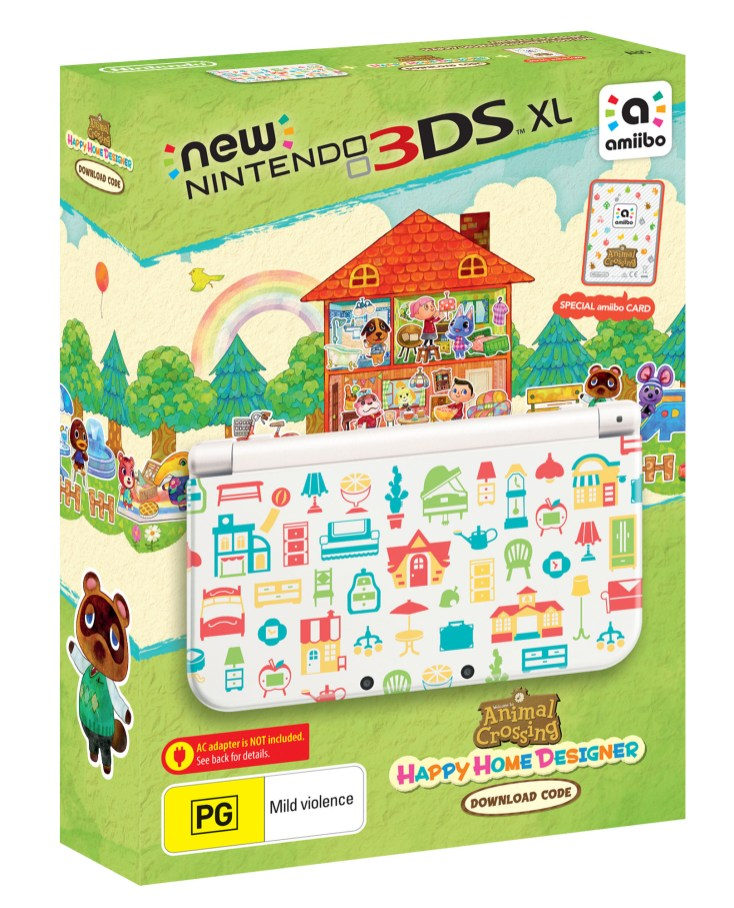 New Nintendo 3DS XL Animal_ Crossing Happy Home Designer Bundle