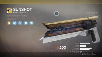 Sunshot for Hunters.