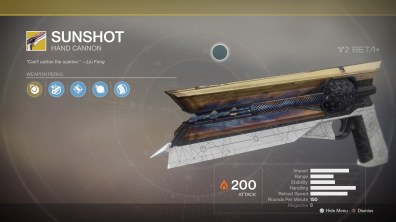 Sunshot for Hunters.