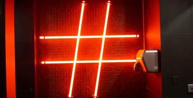 Hashtag Neon Signage