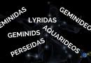 Como é feita a nomenclatura das chuvas de meteoros?
