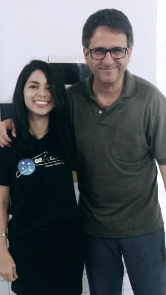 Foto: Kecia Silva e seu orientador Gidelson Ferro