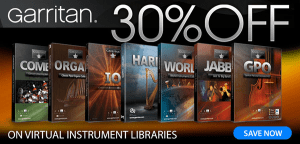 30% off Garritan virtual instrument libraries