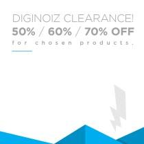50, 60, and 70 percent off at Diginoiz