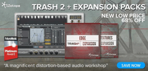 Time+Space announce iZotope Trash 2 price drop plus free expansions