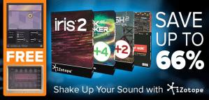 iZotope launch creative software savings