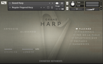 Cinematique Instruments Release Grand Harp