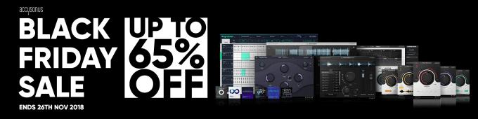 Accusonus Black Friday Sale 2018 – up to 65% off