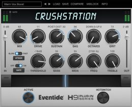 "Eventide Announces CrushStation®—The ""3F"" Overdrive/Distortion Plugin for Desktop and iOS"