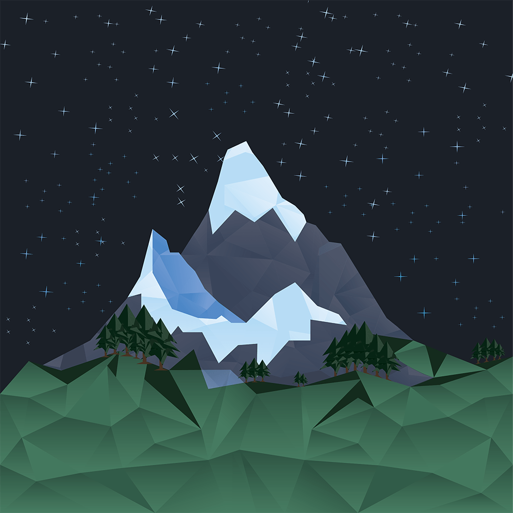 Polygonal Mountainscape