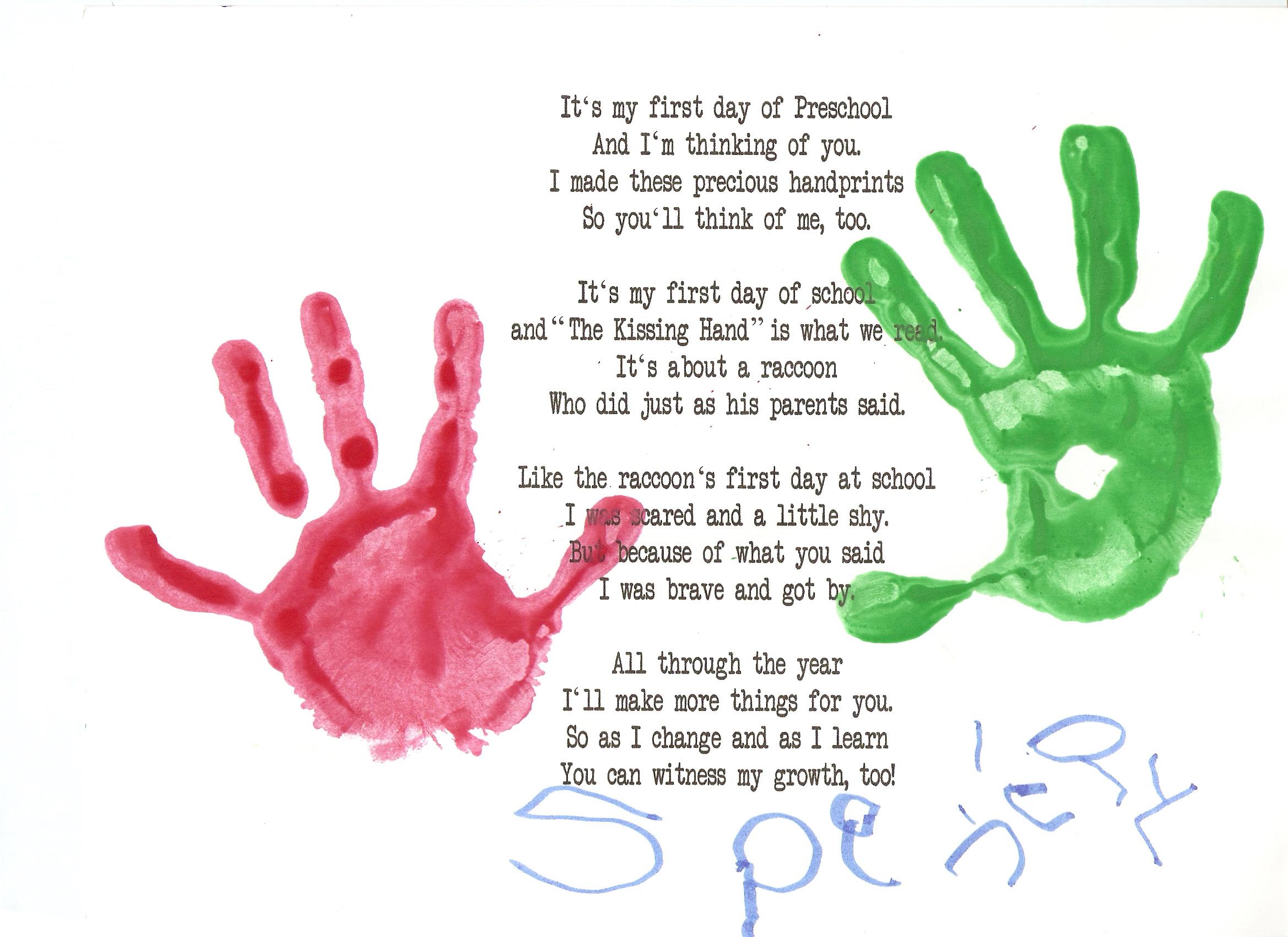 First Day In Preschool Seeking Truth