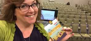 Bridget Willard at WordCamp US, networking and creating strategic partnerships.