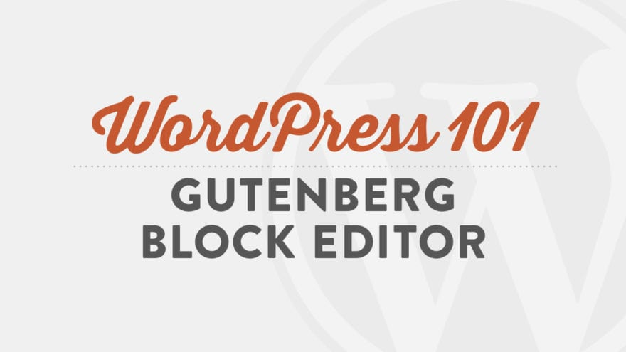 WordPress 101 for beginners
