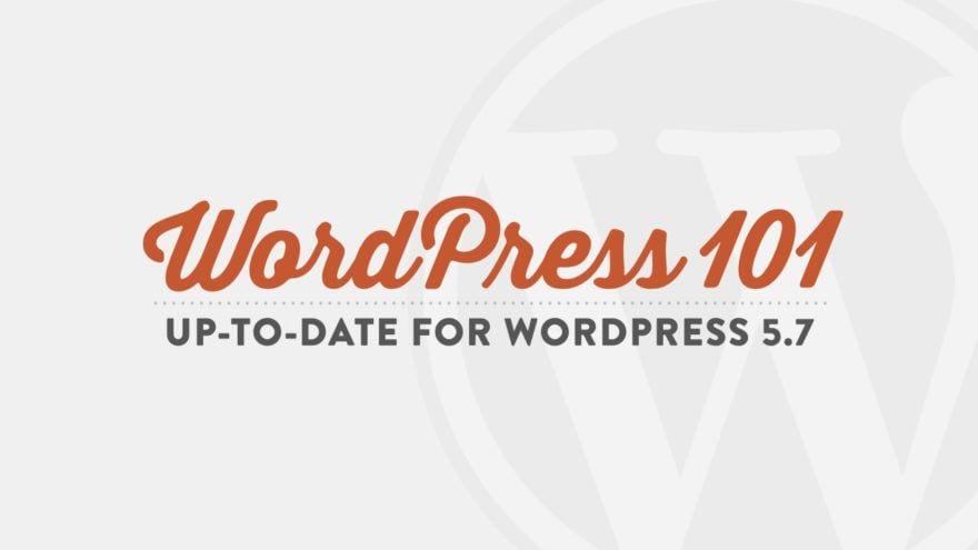 WordPress 101 | WordPress Training for Beginners Course