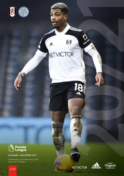 Fulham v Leicester City - pre-order matchday programme