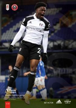 Fulham v Sheffield Utd programme cover