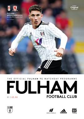 Fulham v Middlesbrough official matchday programme