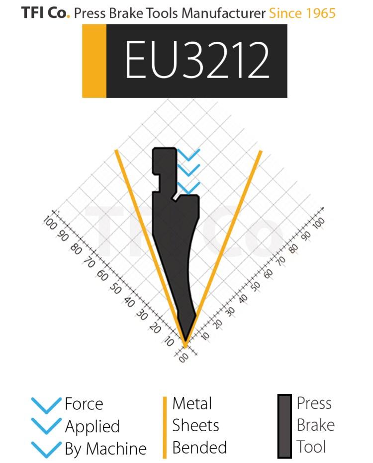 EU3212 , press brake tools, european design , amada , tfico, machine, press brake tools, tooling, press, brake, bending , upper, steel, tokoyo, california, uae, usa, industrial , manufacturer,