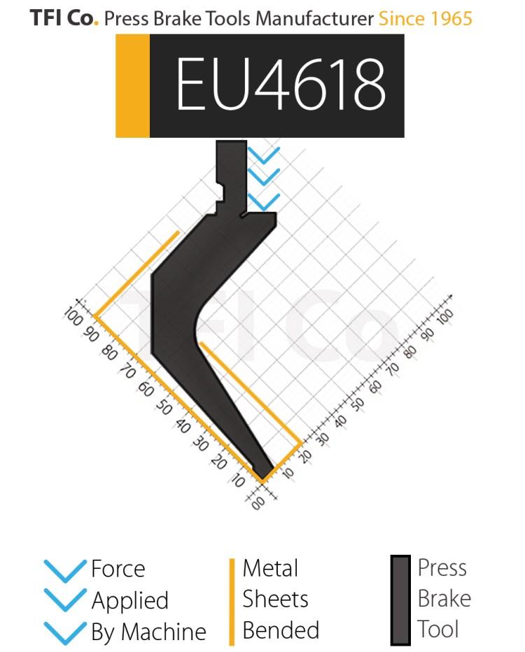 gooseneck , EU4618,darmstadt ,german , press brake tools, european design , amada , tfico, machine, press brake tools, tooling, press, brake, bending , upper, steel, tokoyo, california, uae, usa, industrial , manufacturer,