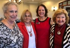 Rhona Saunders, Suzi Weinert, Robin Demattia, Collier Cty. Commissioner and NPC Past President Donna Fiala