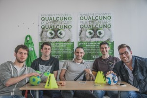 Tommaso Guerra e il resto del team di Golee, portale del calcio giovanile