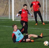 Raul Bobadilla und Maik Uhde trainieren zur Zeit mit dem FCA in Spanien. | Foto: Klaus Rainer Krieger