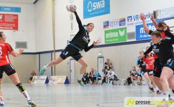 170408_TSVH_THI_004 Ein großer Wurf | TSV Haunstetten Handball sichert sich wichtige Punkte im Abstiegskampf Augsburg Stadt Handball News News Sport FSG Mainz 05/Budenheim TSV Haunstetten Handball |Presse Augsburg