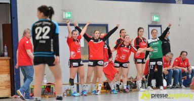 170408_TSVH_THI_016 Ein großer Wurf | TSV Haunstetten Handball sichert sich wichtige Punkte im Abstiegskampf Augsburg Stadt Handball News News Sport FSG Mainz 05/Budenheim TSV Haunstetten Handball |Presse Augsburg