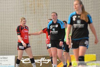 170408_TSVH_THI_019 Ein großer Wurf | TSV Haunstetten Handball sichert sich wichtige Punkte im Abstiegskampf Augsburg Stadt Handball News News Sport FSG Mainz 05/Budenheim TSV Haunstetten Handball |Presse Augsburg