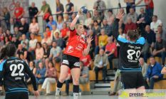 170408_TSVH_THI_020 Ein großer Wurf | TSV Haunstetten Handball sichert sich wichtige Punkte im Abstiegskampf Augsburg Stadt Handball News News Sport FSG Mainz 05/Budenheim TSV Haunstetten Handball |Presse Augsburg