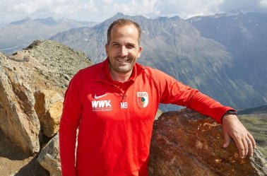 Manuel Baum (Trainer FC Augsburg) auf dem Gaislachkogel, FC Augsburg in Sölden, Gaislachkogel, James-Bond-Museum, 007 ELEMENTS, FC Augsburg, Trainingslager Längenfeld, Tirol, Saison 2018-2019, 02.08.2018