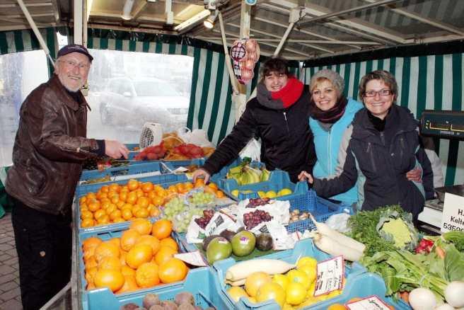 Wochenmarkt Obst und Gemüse Kutz