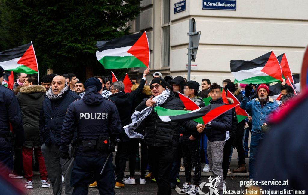 Palästinensische Kundgebung vor der US-Botschaft in Wien (03.02.2020)