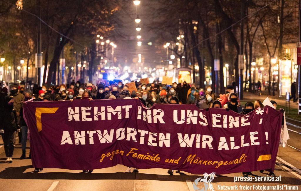 Wien: Demonstration gegen Femizide und Männergewalt (13.11.2020)