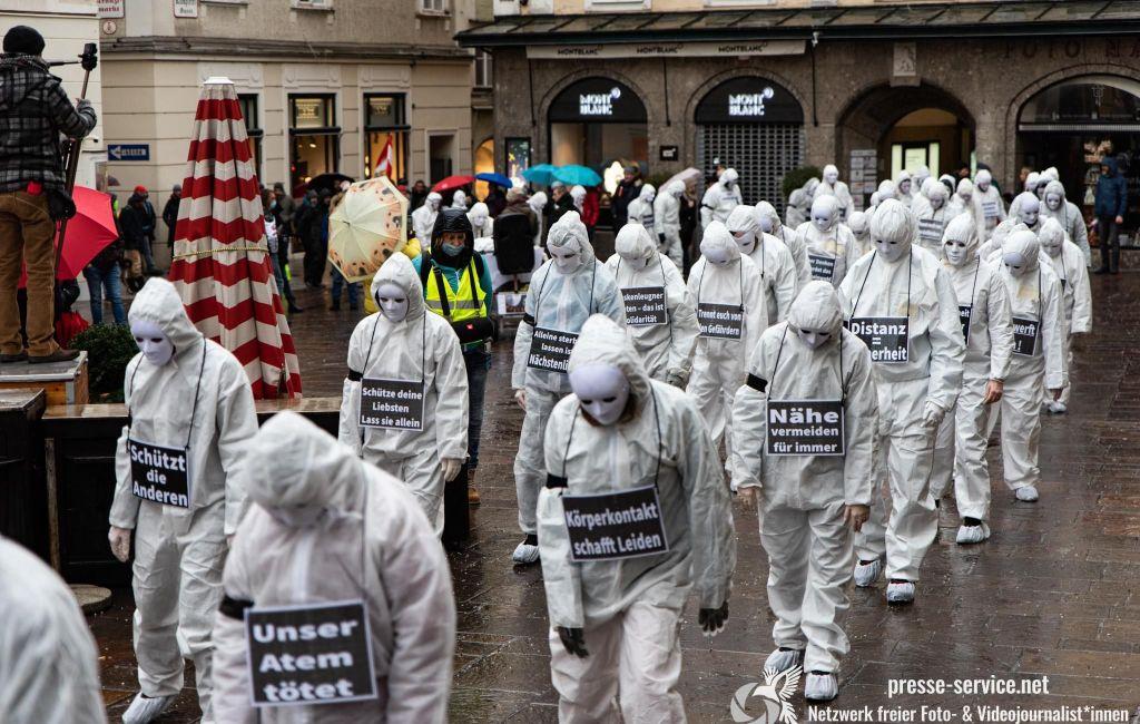 Salzburg: Demonstration gegen die Corona-Schutz-Maßnahmen (13.12.2020)