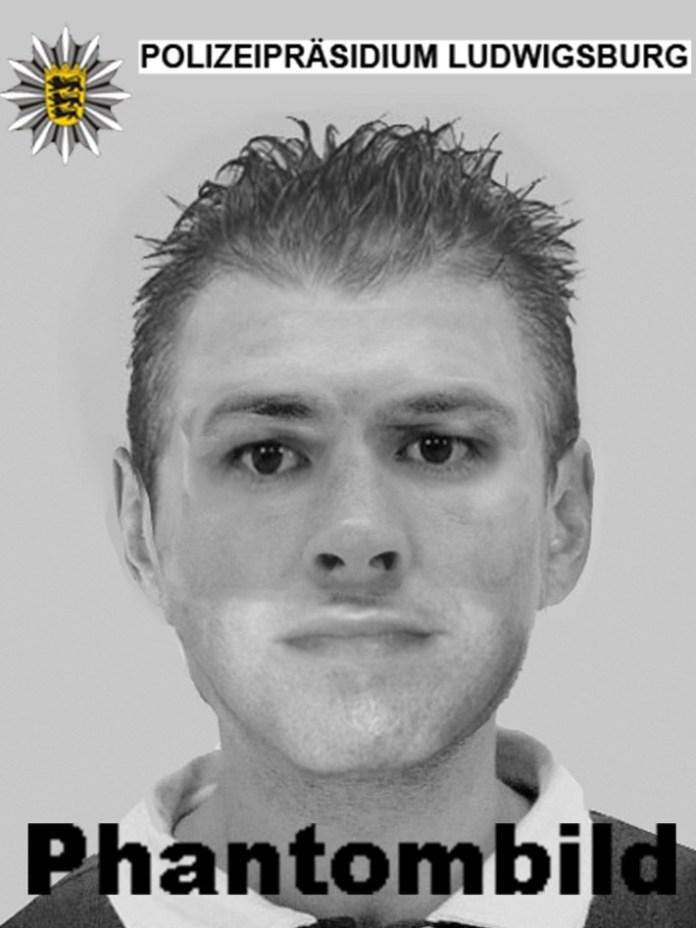 Phantombild des unbekannten Täters. Wer kennt die Person?