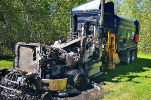 New Brunswick RCMP investigating suspected arson of garbage truck